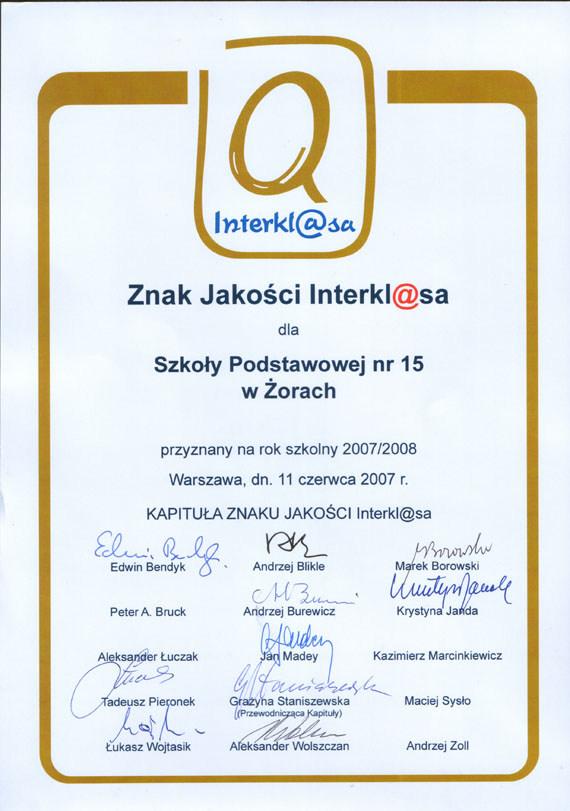 Interklasa