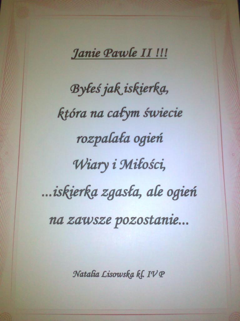 Sp15 Iii Międzyszkolny Konkurs Korespondencyjny Jan Paweł